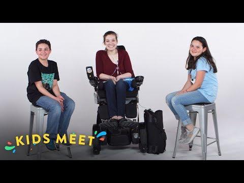 Kids Meet a Teen with Chronic Illness (Sandor & Michela) | Kids Meet | HiHo Kids