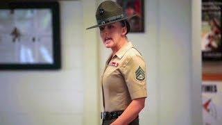 U.S. Marine Drill Instructors Meet New Recruits