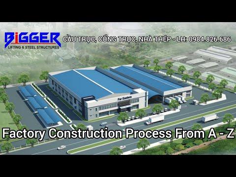 Quy trình  xây dựng nhà xưởng A - Z