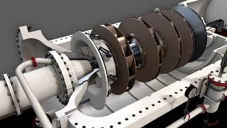 Центробежный компрессор 3D