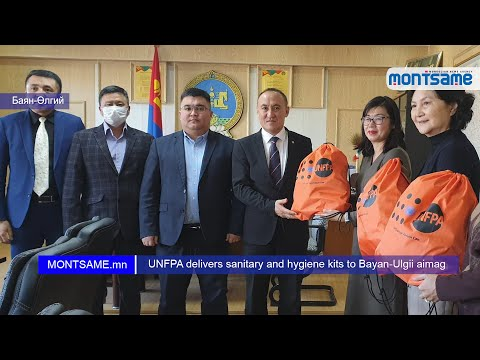 UNFPA delivers sanitary and hygiene kits to Bayan-Ulgii aimag