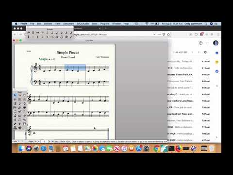 In this video, I teach you how to edit staves and put the note names in the note heads. Perfect for beginning composers.