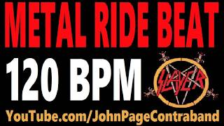 Metal Ride Beat 120 bpm Slayer Style Drums Only Track Loop