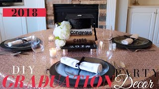 DIY Graduation Cap Centerpiece | Elegant Graduation Party Ideas