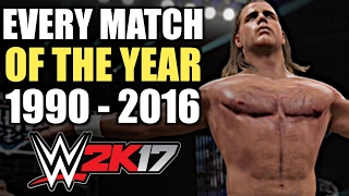 WWE 2K17: Every Match Of The Year (1990 - 2016)