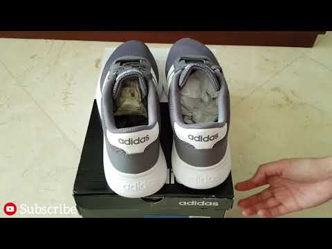 ADIDAS ® LITE RACER ⚡Mens Dark Grey 3 Stripes Shoes (B43732)