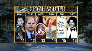 Calendar: Week of December 11