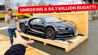 MY FRIEND BOUGHT A $4,100,000 BUGATTI SPORT! *DELIVERY DAY UNBOXING*