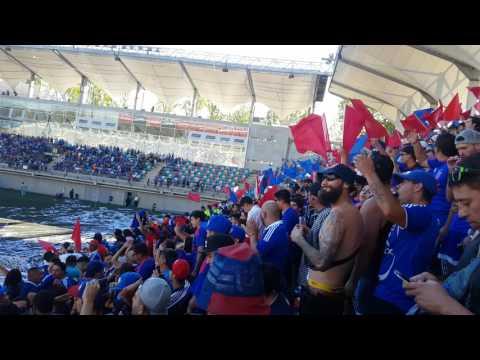 """""""SALIDA U. DE CHILE (3) VS (0) AUDAX ITALIANO / 12-03.2017"""" Barra: Los de Abajo • Club: Universidad de Chile - La U"""