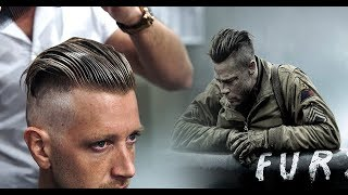 Brad Pitt Hair From FURY  |  Mens Undercut & Hairstyle Trend Tutorial #NEW 2017