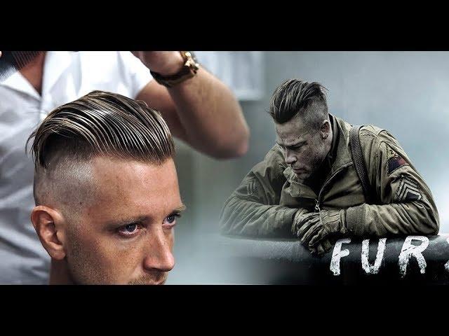 Brad Pitt Fury Hairstyle Fury Piano Scene Videomusicmp3 Free