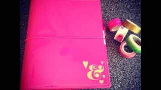 Home Management Binder 2016 In An A5 Patent Pink Domino Filofax