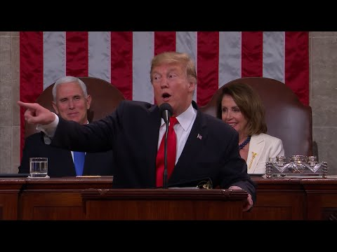 "Face to face with emboldened Democrats in a State of the Union address, President Donald Trump on Tuesday called on Washington to end ""ridiculous partisan investigations"" and cast aside ""revenge, resistance and retribution."" (Feb. 6)"
