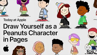 Draw Yourself as a Peanuts Character in Pages with a Snoopy Artist | Apple