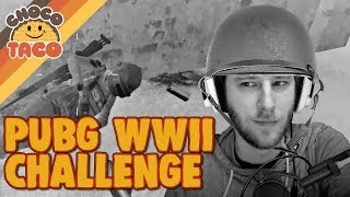 WWII Weapons Only: A choco Challenge - chocoTaco PUBG Gameplay