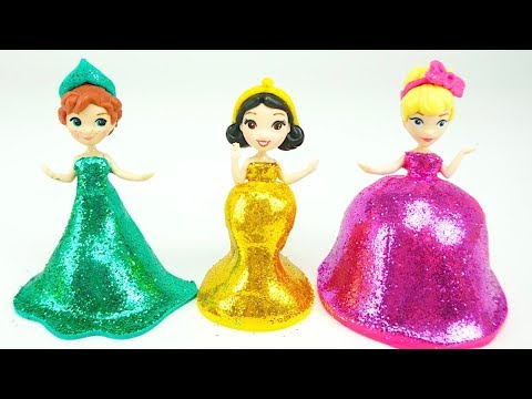 Пластилин для детей. Учимся лепить платья для принцесс