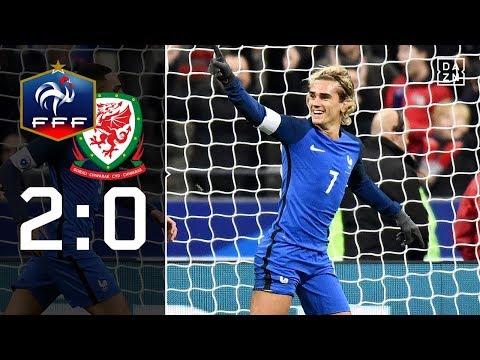 Frankreich schießt sich für DFB-Elf warm: Frankreich - Wales 2:0 | Testspiel | DAZN