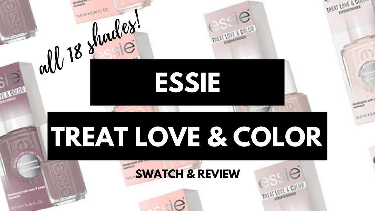 essie Treat Love & Color Complete Collection Swatches & Review!