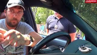 Мой господин вы проехали на красный. Полиция