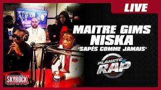 """Maître Gims """"Sapés comme jamais"""" feat Niska en live #PlanèteRap"""