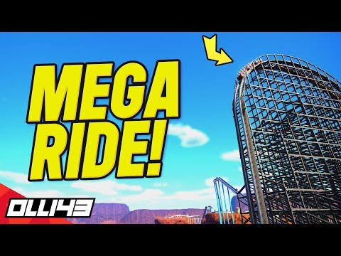 i built the biggest wooden coaster and it turned out insane!! (Planet Coaster Area 43)