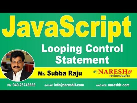 Looping Control Statement | JavaScript Tutorial | Mr. Subba Raju