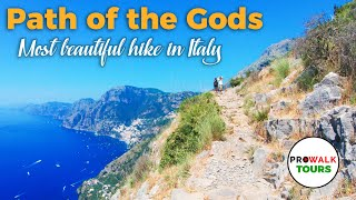 Hiking Italys Amalfi Coast - The Path Of The Gods  [4K 60fps]