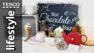 How to make a grown-up hot chocolate bar