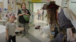Johnny Depp surprises kids at hospital dressed as Captain Jack Sparrow
