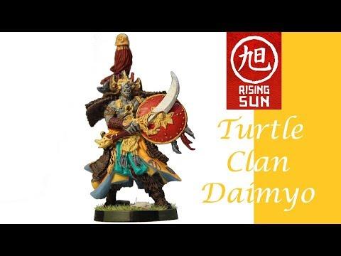 Rising Sun Painting: Turtle Clan Daimyo