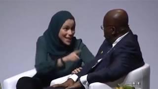 President Akufo Addo heckled by gender activist