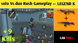 Solo Vs duo PUBG lite Gameplay // full rush // +9 kills