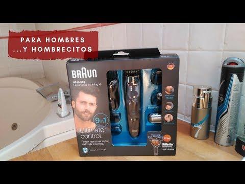 Afeitadora Braun 9en1 Wet & Dry para hombres, y para cortar el pelo a los niños también.