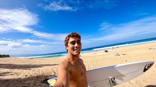 WHAT THE REEF LOOKS LIKE AT PIPELINE || Most beautiful day ever!?