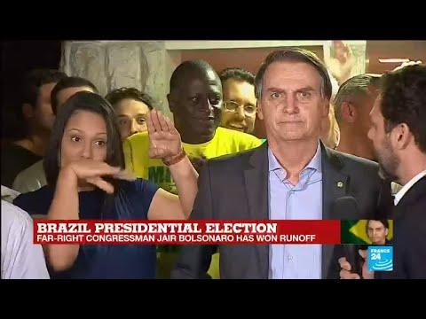 Brazil''s newly elected president Jair Bolsonaro victory speech