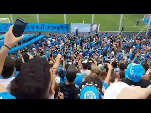 """""""Belgrano,mi buen amigo. Hinchada de Belgrano vs Agropecuario"""" Barra: Los Piratas Celestes de Alberdi • Club: Belgrano"""