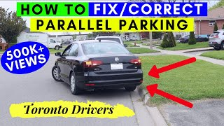 How to CORRECT PARALLEL PARKING || T❤p Rated Vide❤ || Toronto Drivers