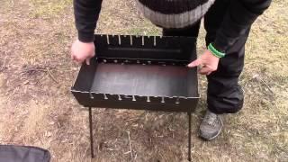 """Мангал разборной 10 шампуров (мангал-чемодан 2,5 мм.) от компании Компания """"TECHNOVA"""" - видео"""