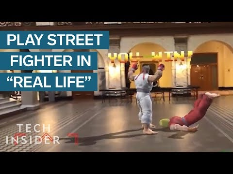 Playing Street Fighter on the Streets with Augmented Reality