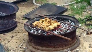 Мангал из камазовского диска | Жизнь в деревне | Приготовление шашлыка
