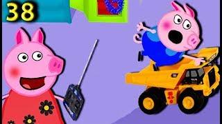Свинка Пеппа катает Джорджа на его машине 38 серия Новые серии