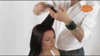 """Смотреть онлайн Стрижка """"Лесенка"""" на длинные волосы"""