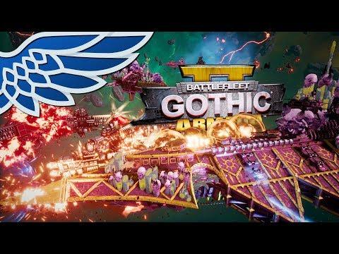 BATTLEFLEET GOTHIC ARMADA 2 | 8000pt MASSIVE FLEET BATTLE - BFGA2 Let's Play Gameplay