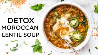 EASY DETOX LENTIL SOUP ‣‣ Healthy Vegan Dinner Idea