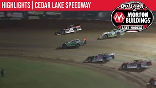 World Of Outlaws Morton Buildings Late Models Cedar Lake Speedway August 6th, 2020 | HIGHLIGHTS