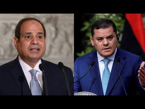 ...السيسي يؤكد في لقائه مع الدبيبة بالقاهرة على أهمية إج