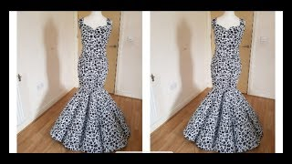 How To Make Panel Mermaid Dress/Ball Gown