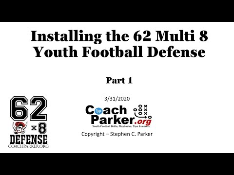 Installing a Youth Football Defense; the 62 Multi 8 Youth