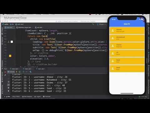 Flutter - SQLite Database example  - смотреть онлайн на Hah Life