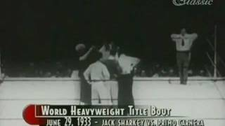Jack Sharkey vs Primo Carnera, II (Full Film)